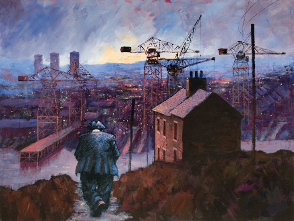 Working Man - Projection Images by Alexander Millar