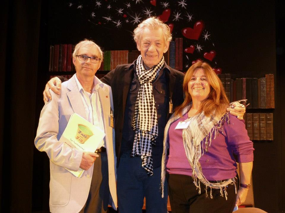 L to R Bob Heather Sir Ian McKellen and Cheryl Barrett