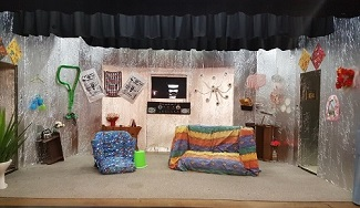 Aliens in the Park set - Wairoa Little Theatre 2017 production