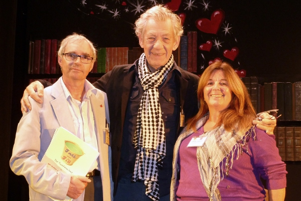 Bob Heather and Cheryl Barrett with Sir Ian McKellen