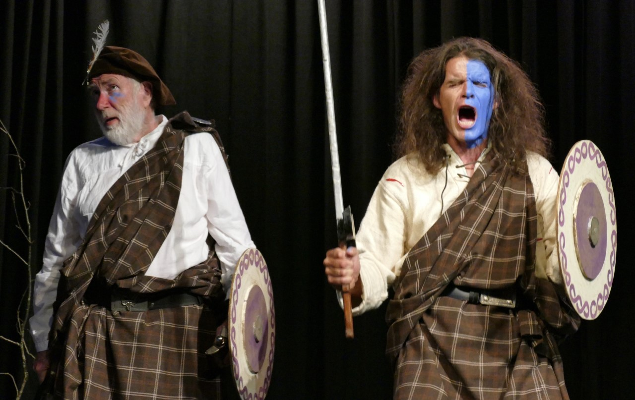Scene from Nunquam non Paratus, production by Whiting Bay Music and Drama, 2019
