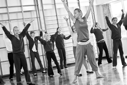 Sarah Cowan conducts a Youth Theatre workshop
